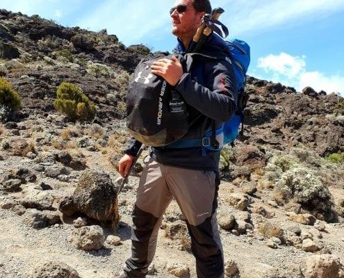 James Kilimanjaro mid ascent